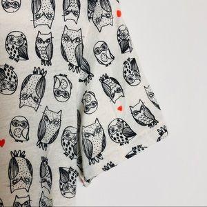 Anthropologie Tops - Anthropologie BDG Owl Print Tee Size M